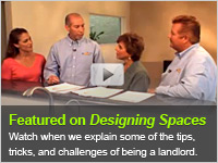 The ezLandlordForms team gives advice to first-time landlords on Designing Spaces!
