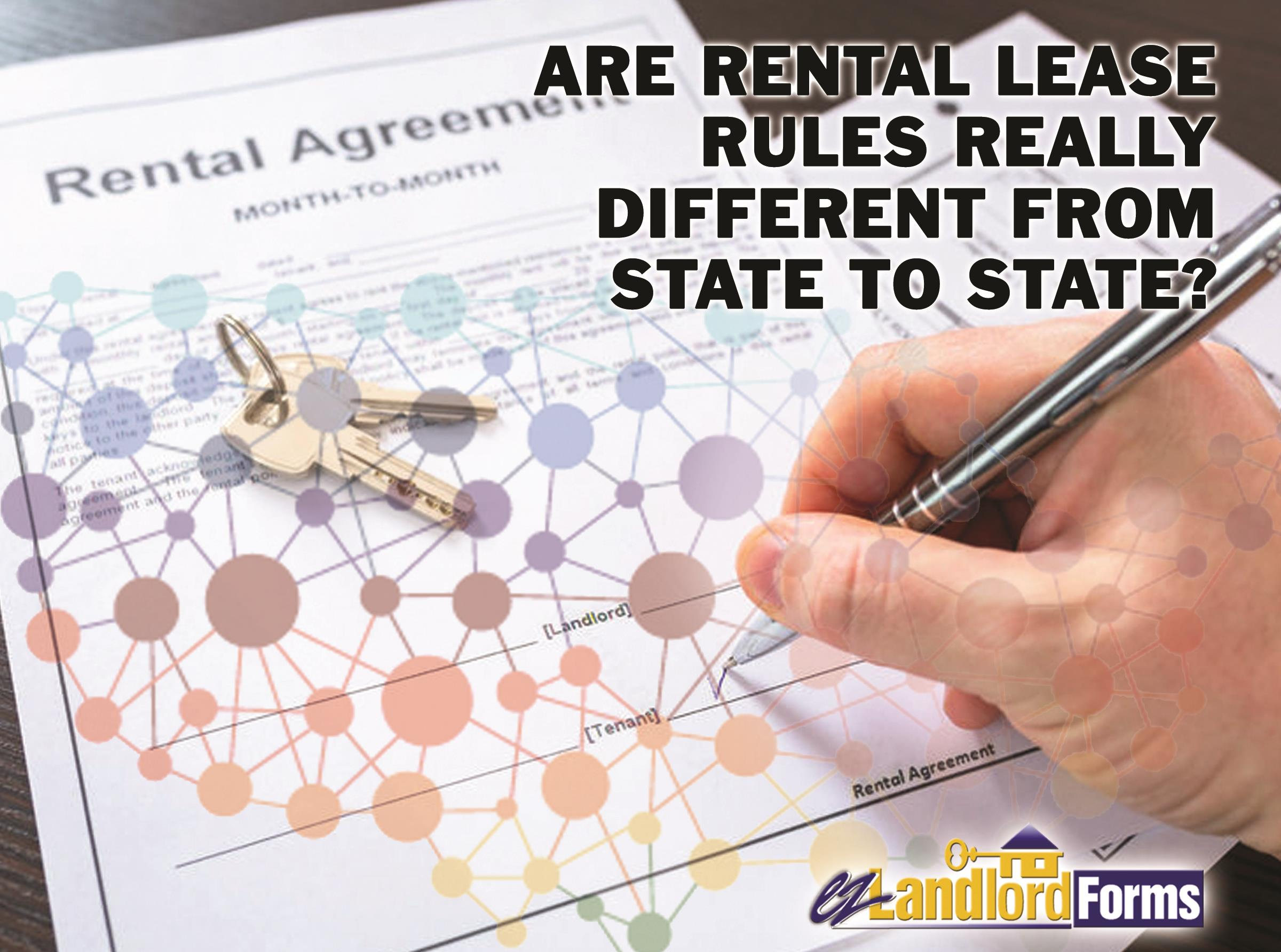 Are Rental Lease Rules Really Different From State To State