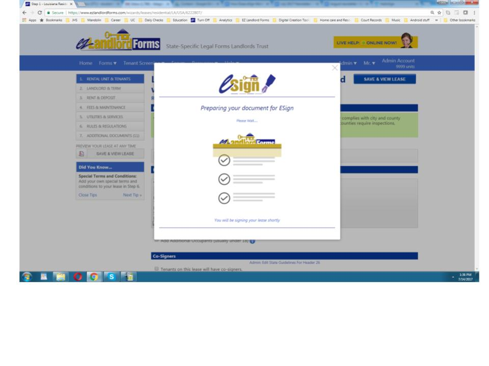 How Does Esign Work Ez Landlord Forms